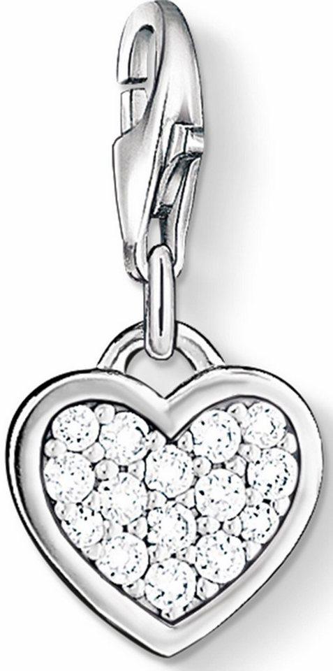 Thomas Sabo Charm-Einhänger »Herz, 0967-051-14« mit Zirkonia in Silber 925