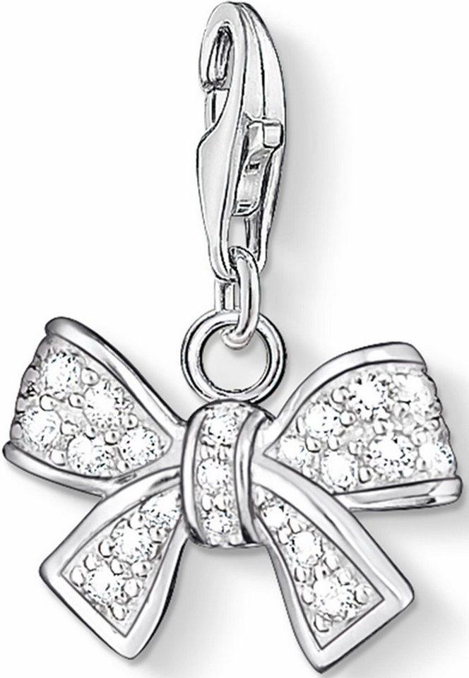 Thomas Sabo Charm-Einhänger »Schleife, 0843-051-14« mit Zirkonia in Silber 925