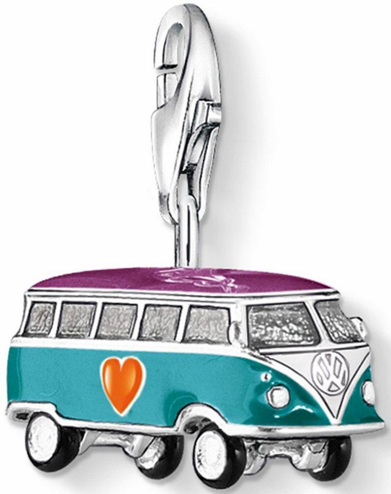 Thomas Sabo Charm-Einhänger »VW-Bus, 0881-007-7« in Silber 925-creme-gelb-orange-schwarz-violett