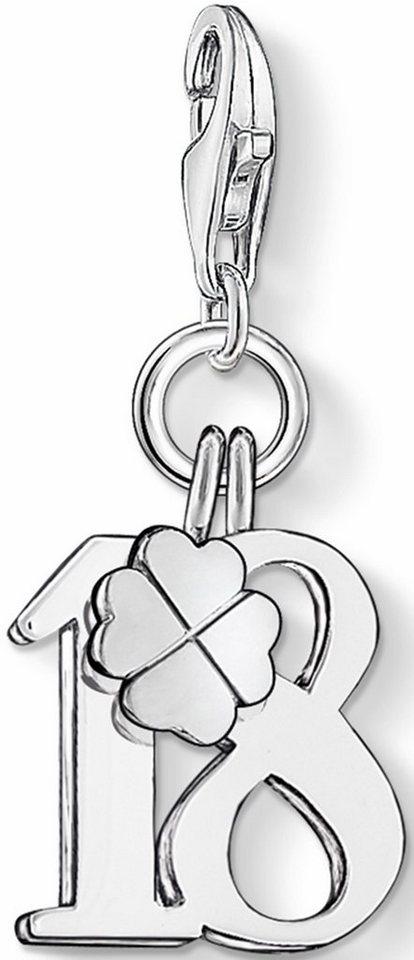 Thomas Sabo Charm-Einhänger »Glückszahl 18, 0473-001-12« in Silber 925