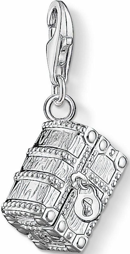 Thomas Sabo Charm-Einhänger »Schatztruhe, 1220-073-7« mit Spinell, Korund und Zirkonia in Silber 925