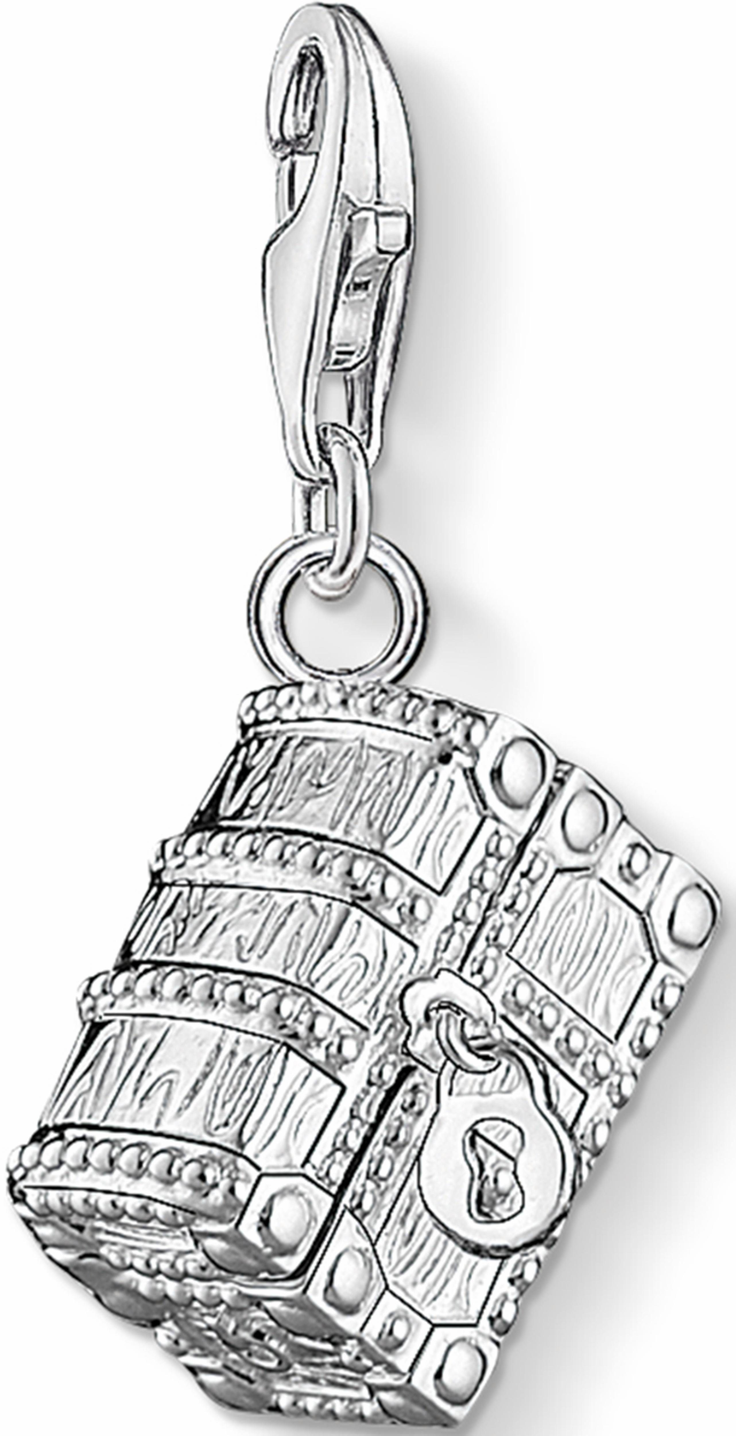 Thomas Sabo Charm-Einhänger »Schatztruhe, 1220-073-7«, mit Spinell, Korund und Zirkonia