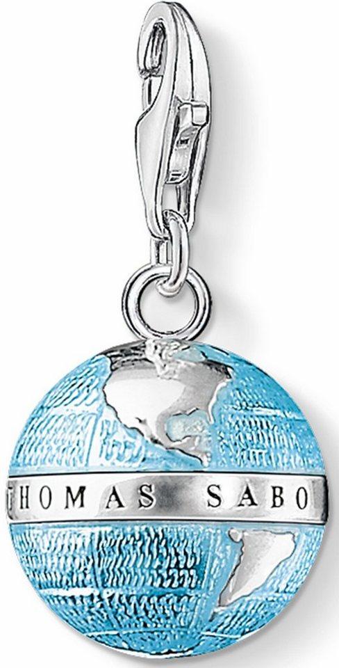 Thomas Sabo Charm-Einhänger »Weltkugel, 0754-007-1« in Silber 925-hellblau