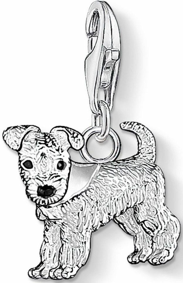Thomas Sabo Charm-Einhänger »Hund, 0841-007-12« in Silber 925-schwarz