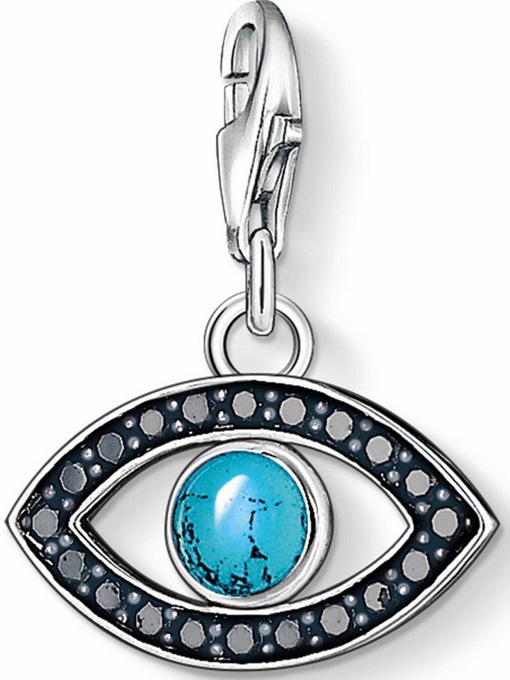 Thomas Sabo Charm-Einhänger »Türkisches Auge, 1053-405-17« mit Zirkonia in Silber 925