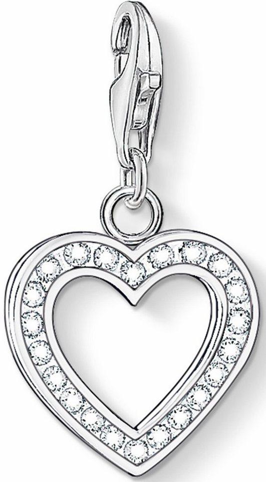Thomas Sabo Charm-Einhänger »Herz, 0018-051-14« mit Zirkonia in Silber 925
