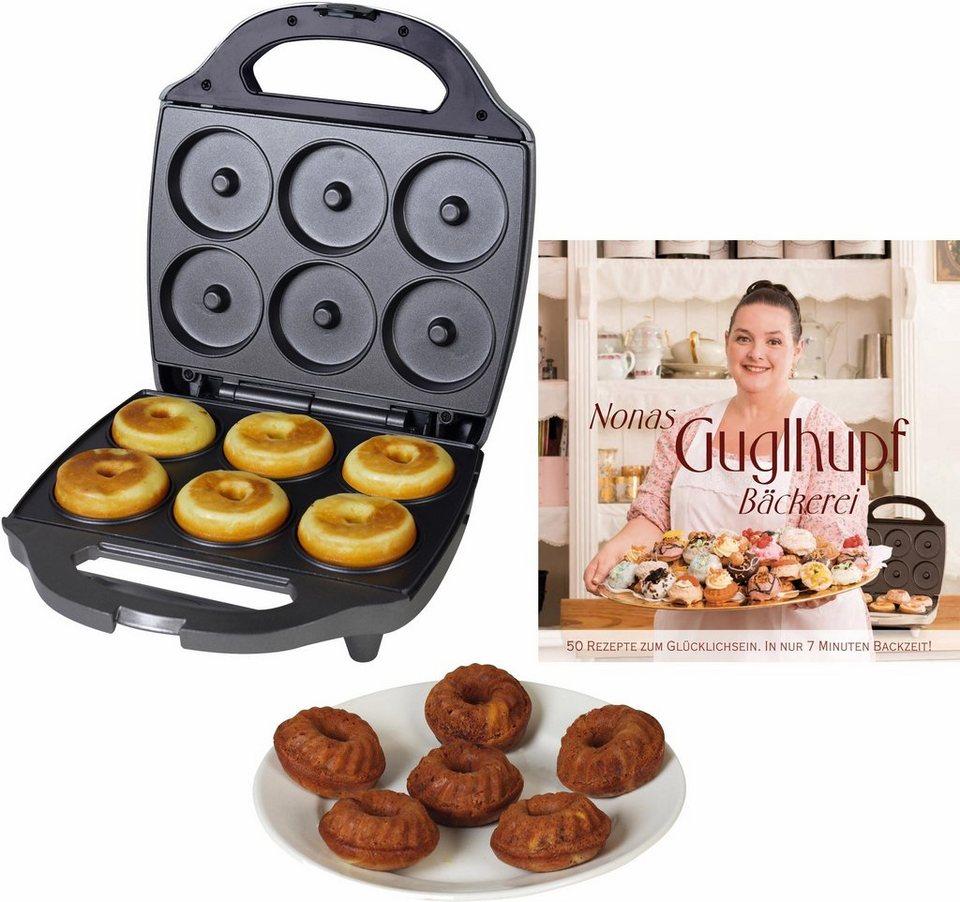 Kalorik Waffeleisen Cupcake Maker TKG CKM 1002 NYC RB, 900 Watt, inkl. Backbuch mit 50 Rezepten in grau