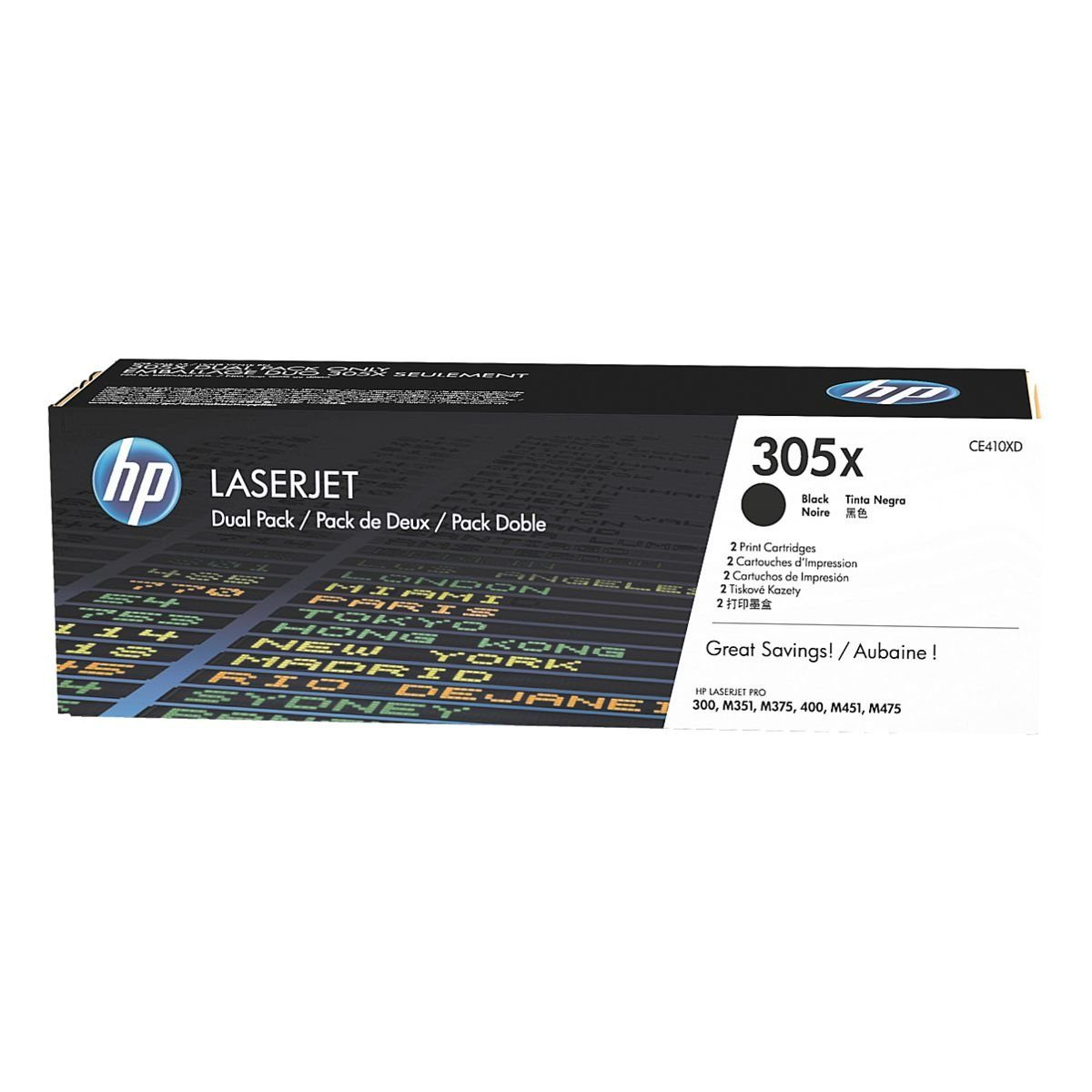 HP Doppelpack Druckkassetten 305X »HP CE410XD«