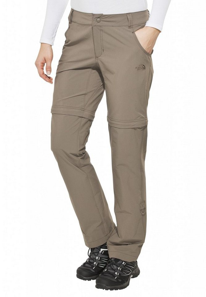 The North Face Outdoorhose »Exploration Convertible Pant Women Regular« in braun
