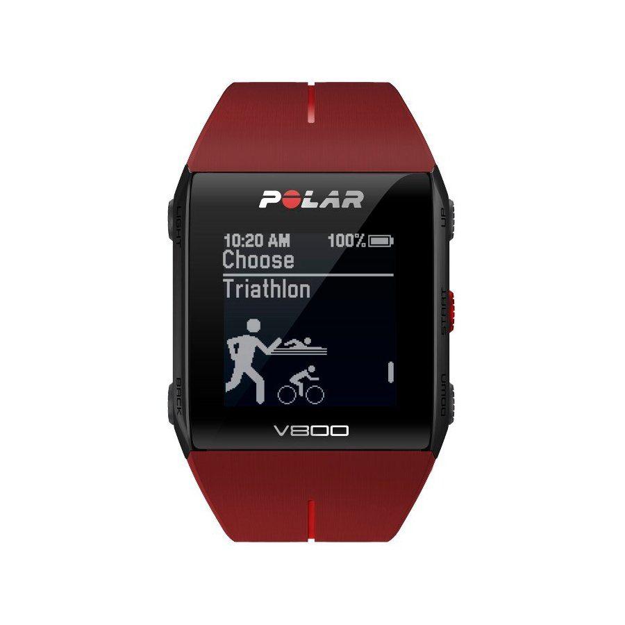 Polar Fitnesstracker »V800 Javier Gomez Noya GPS-Sportuhr + H7-Sensor +«