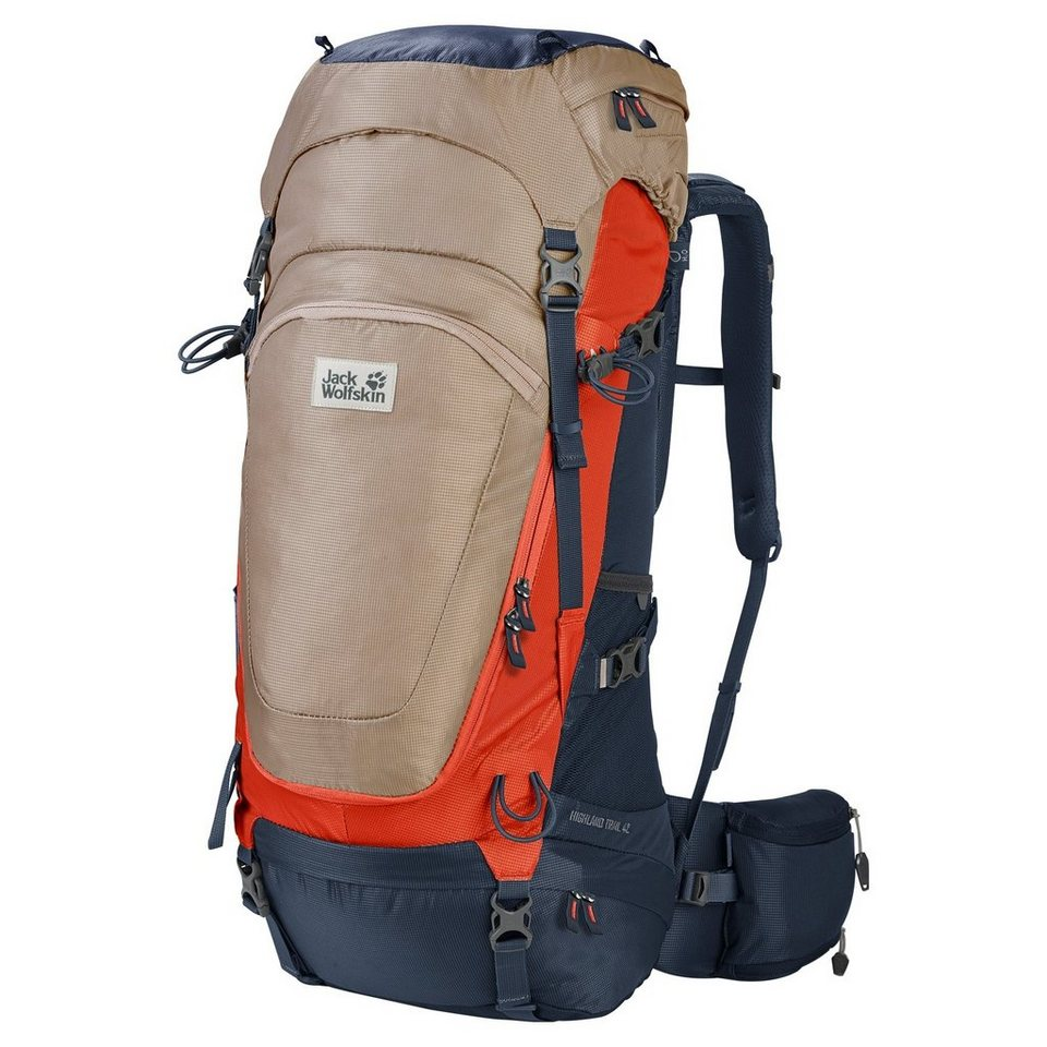 Jack Wolfskin Sport- und Freizeittasche »Highland Trail 42 Backpack« in beige