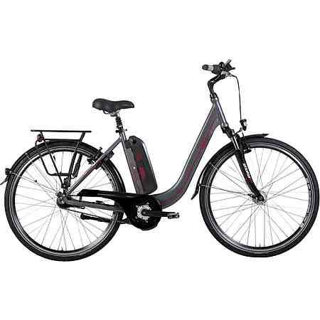 Biria E-Bike City Damen, 28 Zoll, 7-Gg. Shimano Nexus, V-Brake, Rücktritt, Mittelm. 250 W, 36V/ 10A