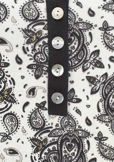 Combinaison Lascana Noir Et Blanc Avec Boutons En Nacre