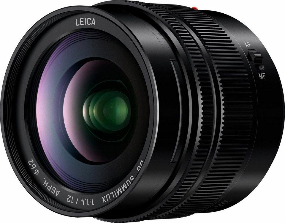 Lumix Panasonic H-X012E Weitwinkel Objektiv in schwarz