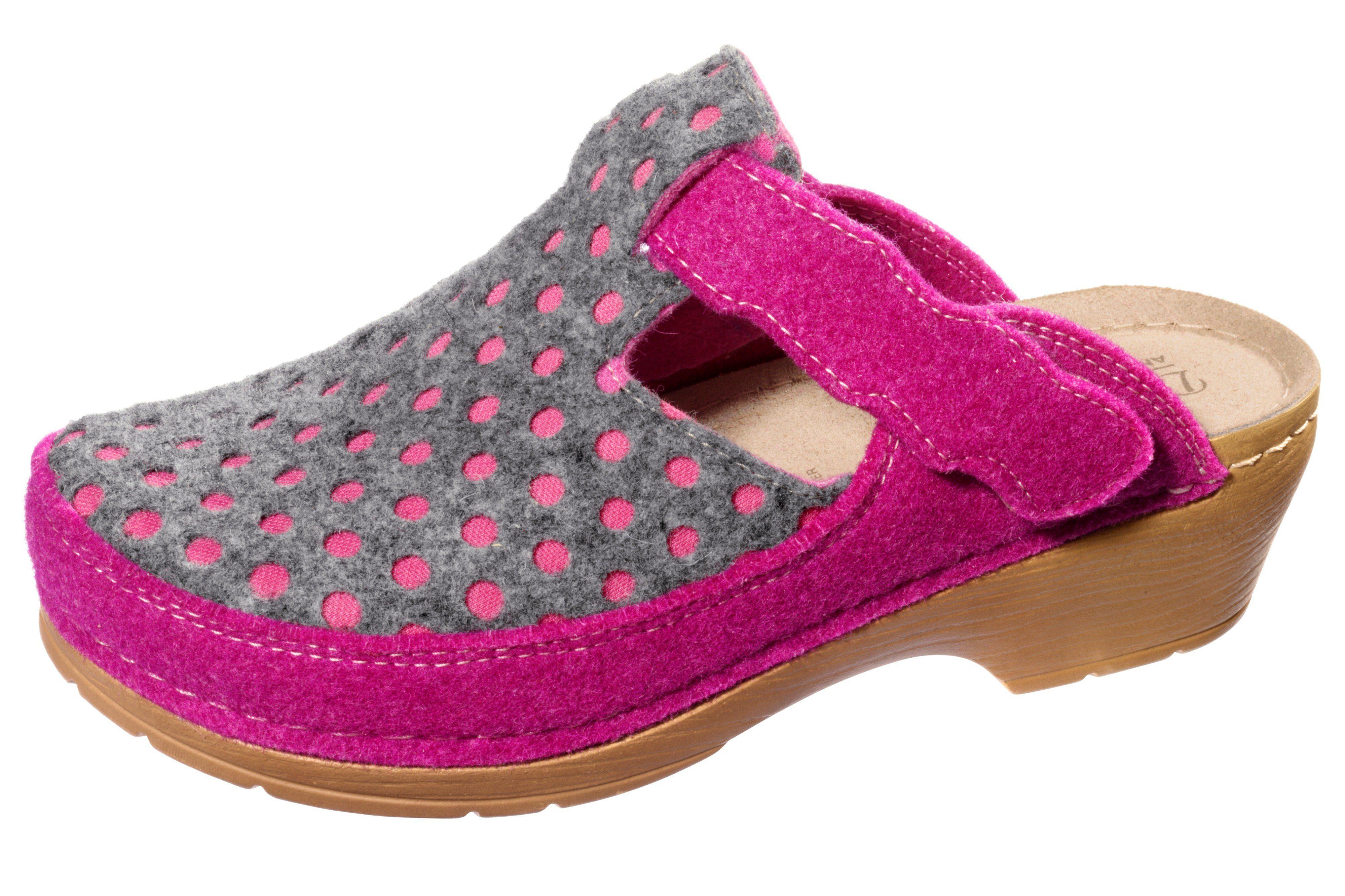 heine home Clogs online kaufen  pink#ft5_slash#grau