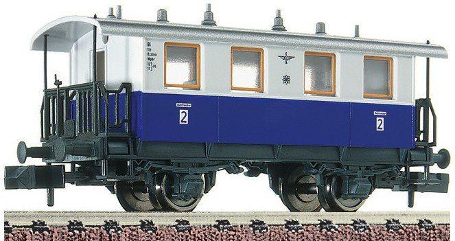 Fleischmann® Personenwagen 2. Klasse, Spur N, »Zahnrad 2 - Gleichstrom« in blau
