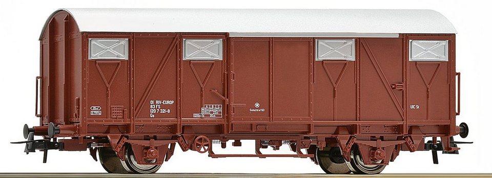 Roco Güterwagen, Spur H0, »Gedeckter Güterwagen 2a Plattenwagen, braun - Gleichstrom« in braun