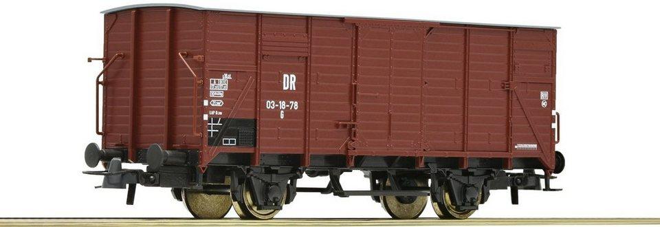 Roco Güterwagen, Spur H0, »Gedeckter Güterwagen G10, braun - Gleichstrom« in braun