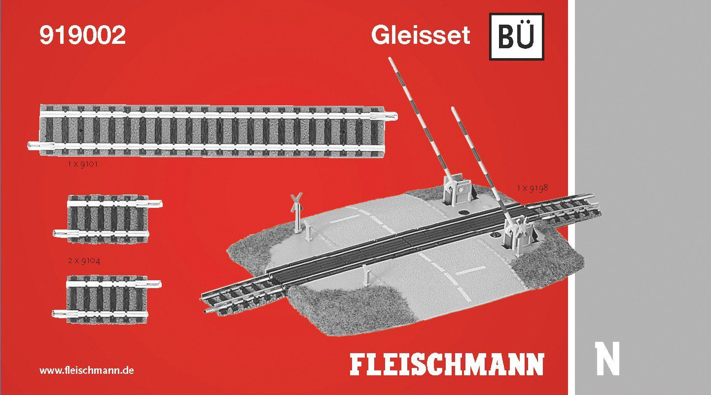 Fleischmann® Digitales Gleisset Bahnübergang, Spurweite N, »BÜ«