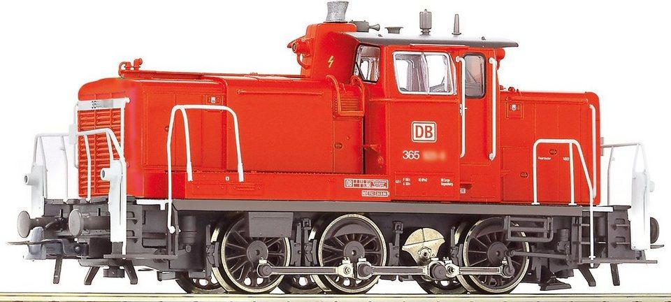 Roco Diesellok mit Licht, Spur H0, »D-Lok BR365 - Gleichstrom« in rot
