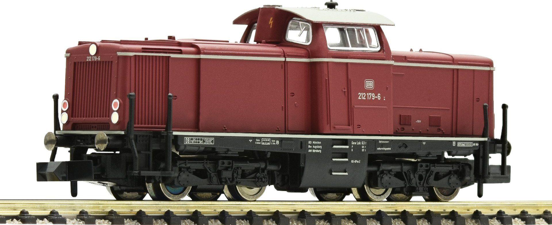 Fleischmann® Diesellokomotive mit Beleuchtung, Spur N, »BR 212 rot - Gleichstrom«