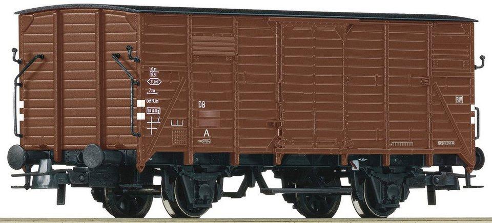 Roco Güterwagen, Spur H0, »Gedeckter Güterwagen G10 ohne Bremserhaus - Gleichstrom« in braun