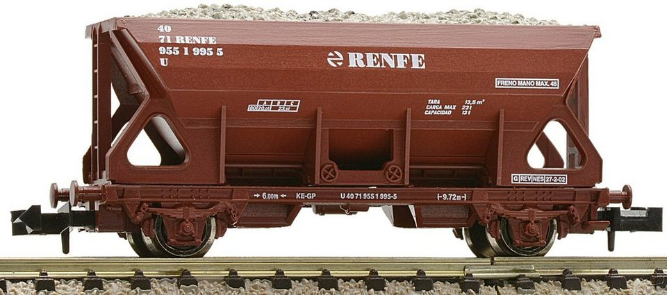 Fleischmann® Schotterwagen, Spur N, »bn RENFE - Gleichstrom« in braun