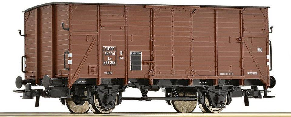 Roco Güterwagen, Spur H0, »Gedeckter Güterwagen 2a - Gleichstrom« in braun