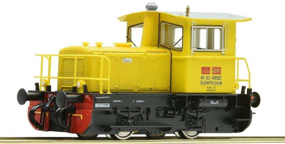 Roco Diesellok aus Metallspritzguss, Spur H0, »D-Lok Gruppo 214 FS - Gleichstrom« in gelb