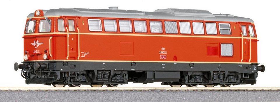 Roco Diesellok mit Licht und Sound, Spur H0, »D-Lok Rh2043 AC - Wechselstrom« in rot