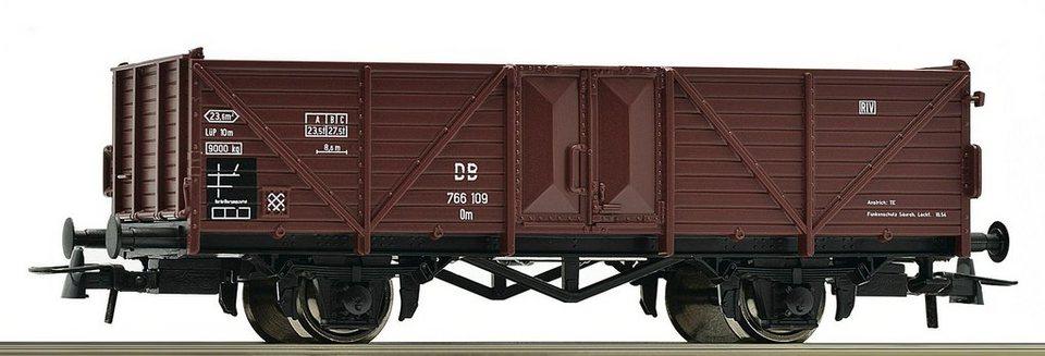 Roco Güterwagen, Spur H0, »Offener Güterwagen 2a Om DB - Gleichstrom« in braun