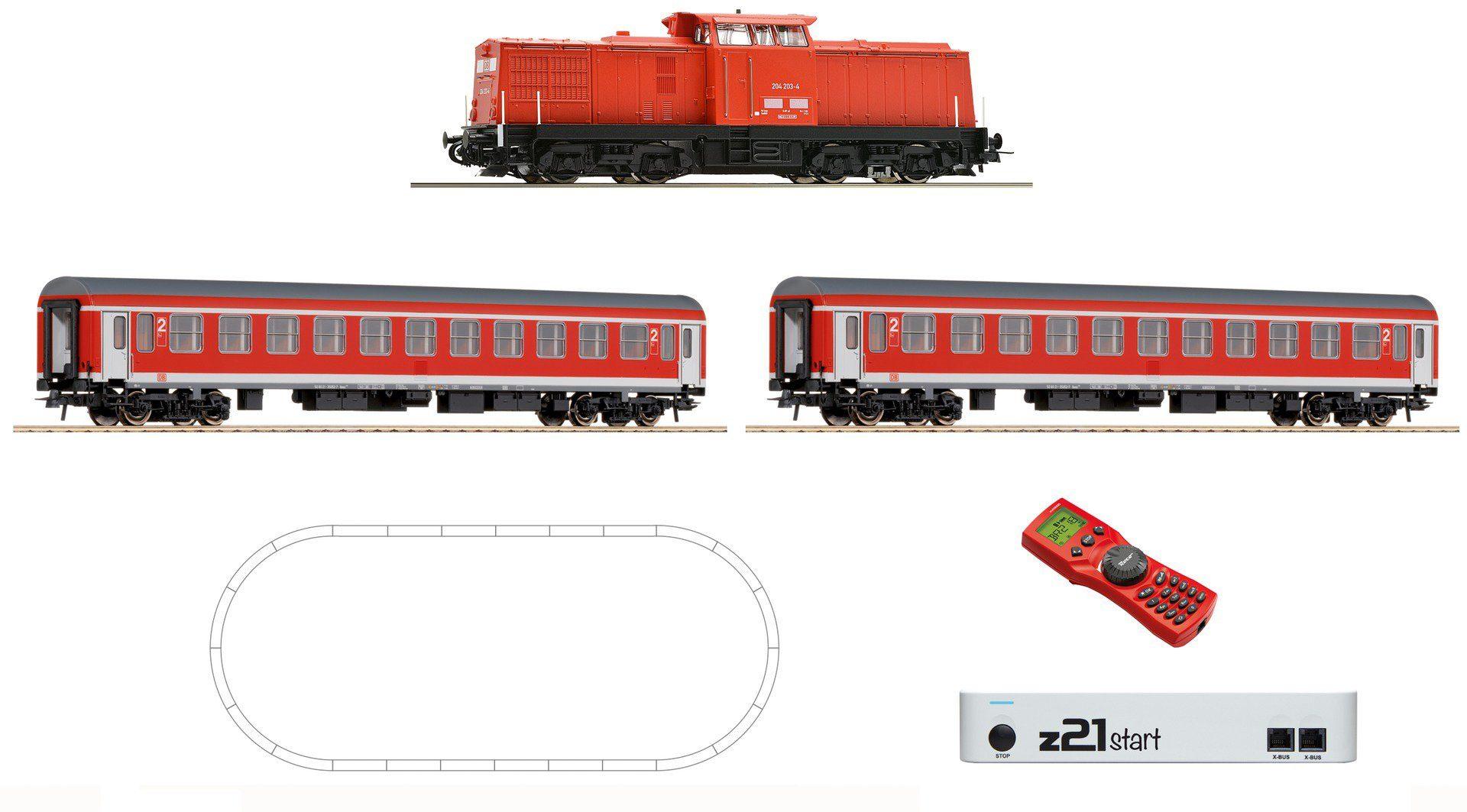 Roco Digital-Set, Spur H0, »Diesellokomotive BR 204 mit Personenzug - Gleichstrom«