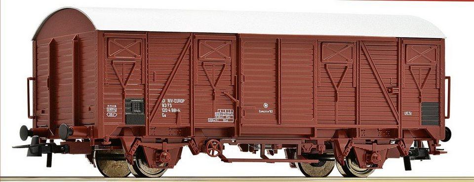Roco Güterwagen, Spur H0, »Gedeckter Güterwagen 2a Holzwagen - Gleichstrom«