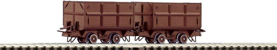 Roco Güterwagen, Spur H0, »2-tlg. Set Kohleloren - Gleichstrom« in braun