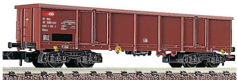 Fleischmann® Offener Güterwagen, Spur N, »Vierachsig braun - Gleichstrom«