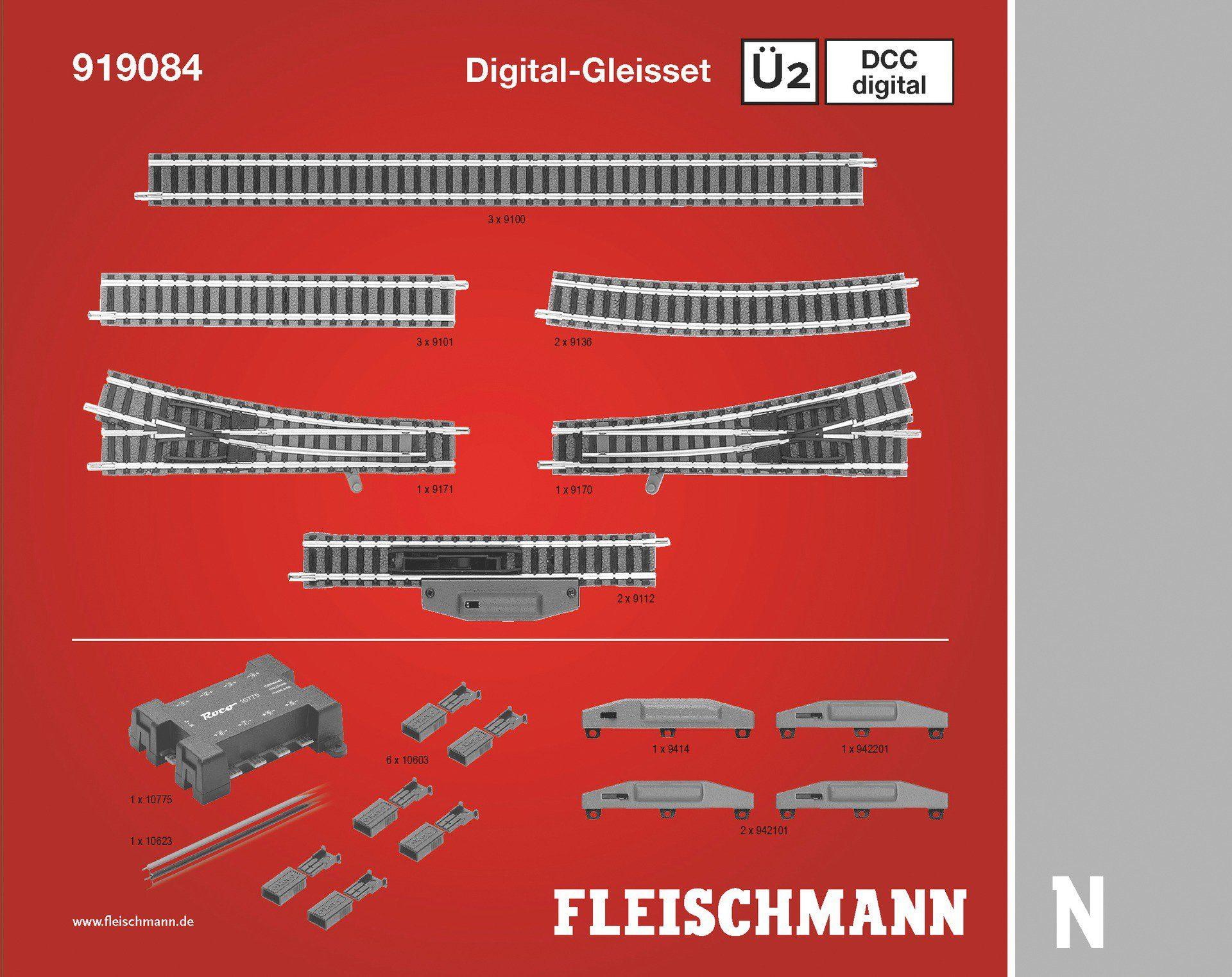 Fleischmann® Digitales Gleisset, Spur N, »Ü2D - Gleichstrom«