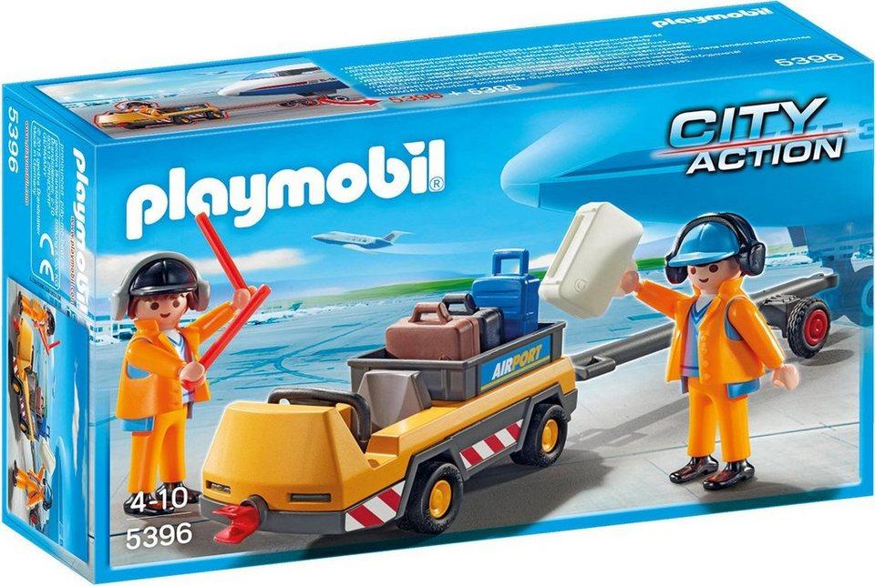 Playmobil® Flugzeugschlepper mit Fluglotsen (5396), »City Action«