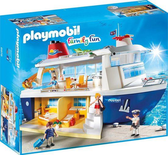 Playmobil® Konstruktionsspielsteine »Kreuzfahrtschiff (6978), Family Fun«