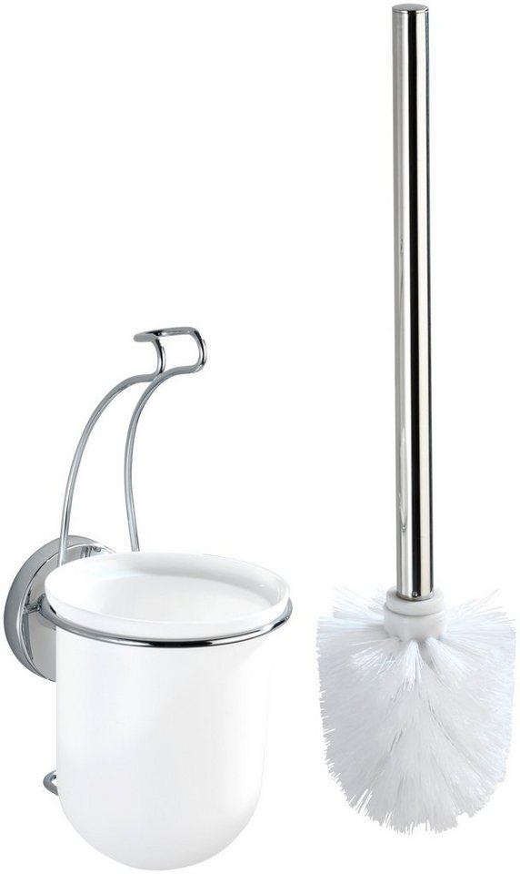 WC-Garnitur »Milazzo« in chrom/weiß/glänzend