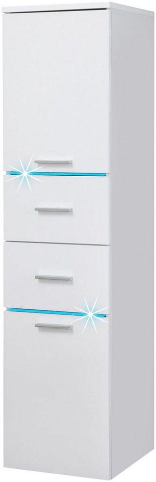 Schildmeyer Highboard »Polaris LED«, Breite 33 cm in weiß