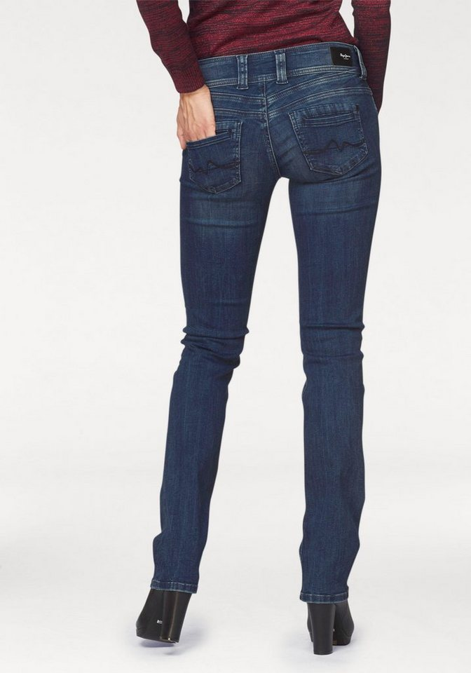 Pepe Jeans Straight-Jeans »GEN« mit breitem Bund in blue-denim