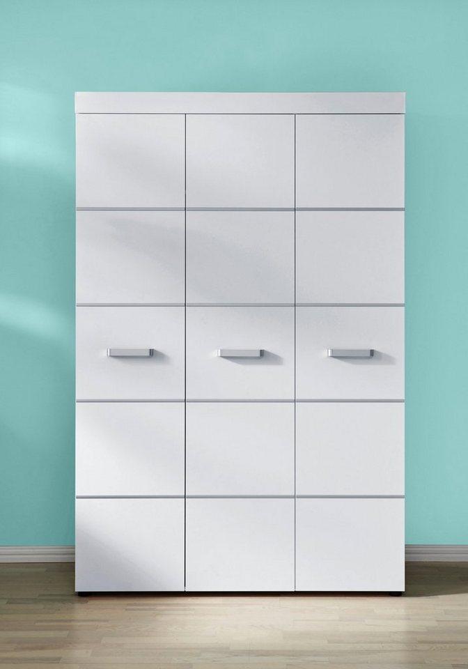 Kleiderschrank passend zur Babymöbel Serie »Classic« in weiß in weiß/ silberfarbig