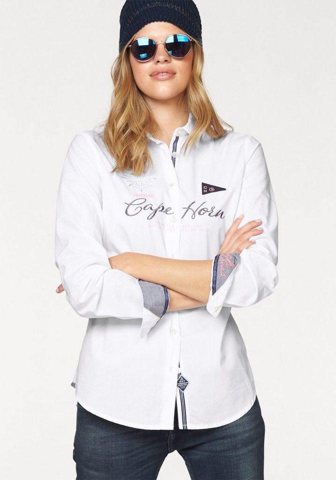 Gaastra Hemdbluse »Capitain« aufwändige Verarbeitung in weiß