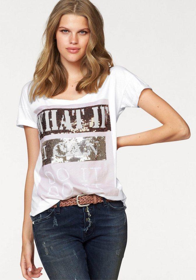 Rich & Royal Print-Shirt in weiß