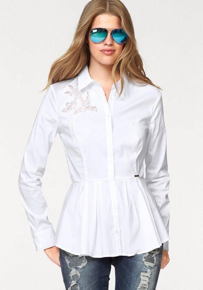 Guess Langarmbluse »KAJSA« in weiß