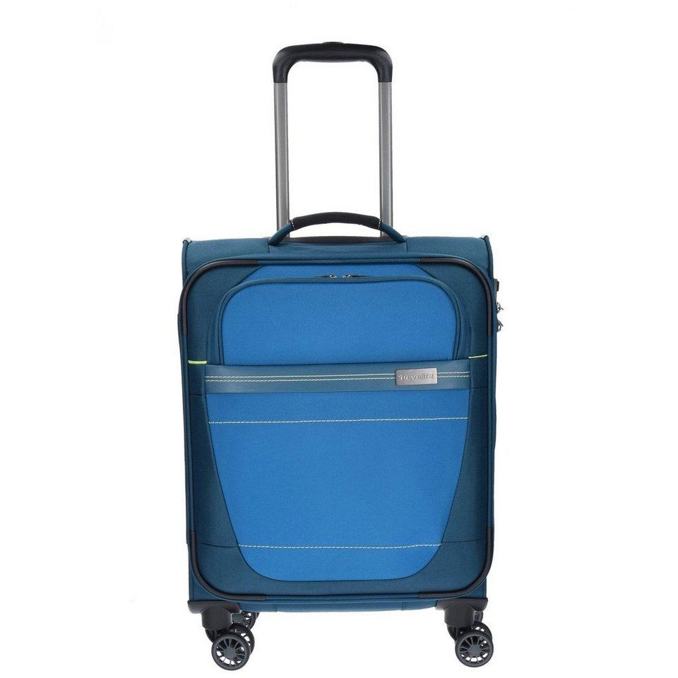 Travelite Meteor 4-Rollen Kabinen-Trolley 55 cm in petrol
