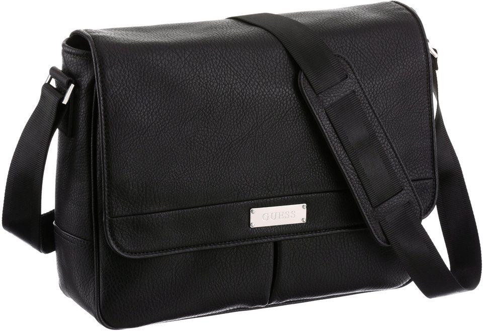 Guess Messenger Bag mit Tabletfach in schwarz