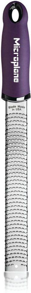 Microplane Reibe 46520, »PREMIUM feine Reibe, Zester« in silberfarben/lila