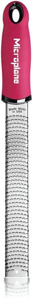 Microplane Reibe 46920, »PREMIUM feine Reibe, Zester« in silberfarben/pink