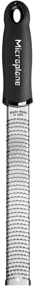 Microplane Reibe 46020, »PREMIUM feine Reibe, Zester« in silberfarben/schwarz